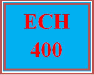 ech 400 week 4 assessment interview