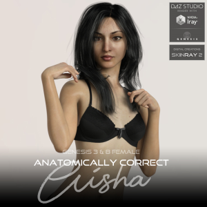 anatomically correct: aisha for genesis 3 and genesis 8 female