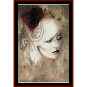 gothic beauty - fantasy cross stitch pattern by cross stitch collectibles