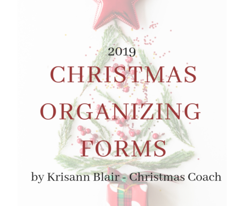 First Additional product image for - 2019 Christmas Organizing Forms PDF