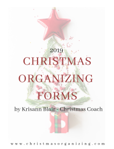 2019 christmas organizing forms pdf