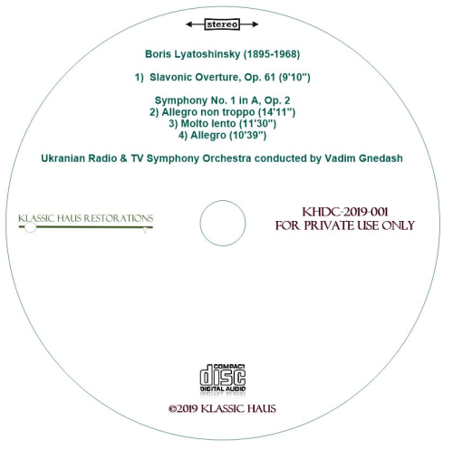 Second Additional product image for - Boris Lyatoshinsky: Slavic Overture/Symphony No. 1