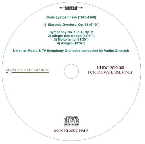 Second Additional product image for - Boris Lyatoshinsky: Slavic Overture/Symphony No. 1