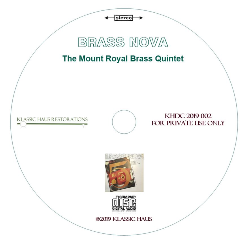 Second Additional product image for - Brass Nova - The Mount Royal Brass Quintet