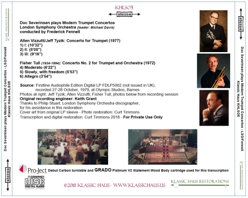 First Additional product image for - Doc Severinsen plays Modern Trumpet Concertos