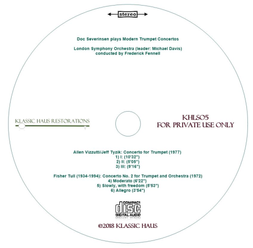 Second Additional product image for - Doc Severinsen plays Modern Trumpet Concertos