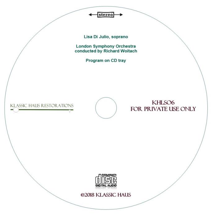 Second Additional product image for - Lisa Di Julio (soprano) - Opera Arias
