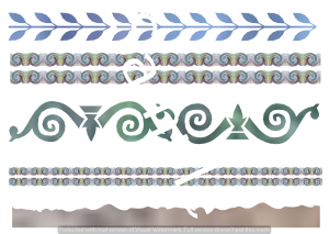 Train 2 A4 borders sheet in .png | Crafting | Paper Crafting | Other