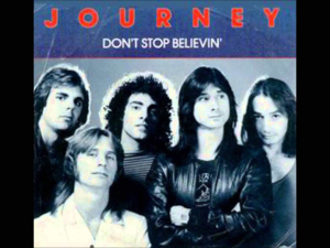 don't stop believin' inspired by journey/glee custom arranged for show band including sat vocals, rhythm and horn section.