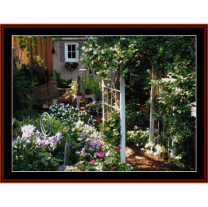 sharon''s garden - custom pattern by cross stitch collectibles