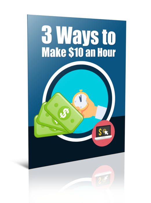 First Additional product image for - 3 Ways to Make $10 Per Hour