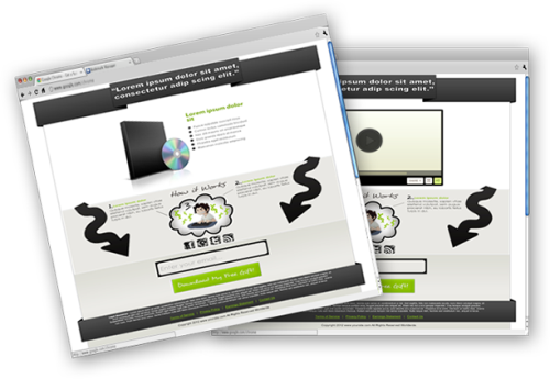 Fourth Additional product image for - 5 HTML-PSD Squeeze Pages
