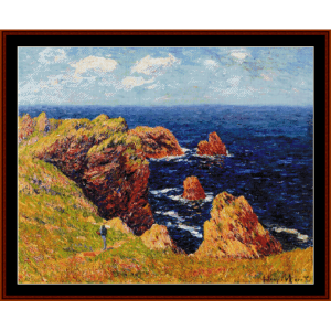 promenade on the coastal path - moret cross stitch pattern by cross stitch collectibles
