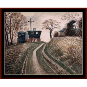 caravans - ravilious cross stitch pattern by cross stitch collectibles