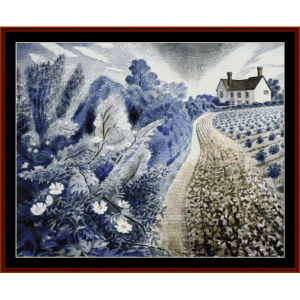 Farmhouse and Field - Ravilious cross stitch pattern by Cross Stitch Collectibles | Crafting | Cross-Stitch | Other