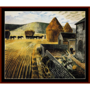 Furlongs - Ravilious cross stitch pattern by Cross Stitch Collectibles | Crafting | Cross-Stitch | Other