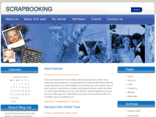 Fourth Additional product image for - 5 Blog Themes