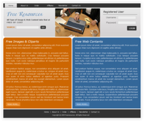 Fourth Additional product image for - 5 HTML Templates