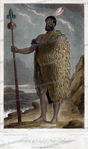 tetoro, the maori chief of ngapuhi, r. read, 1820