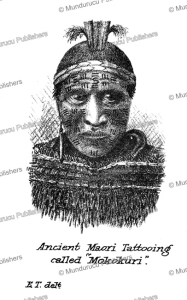 ancient maori tattooing called mokokuri, e. tregear, 1887