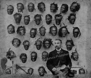 Gordon Robley with his mokomokai (preserved heads) collection, 1895 | Photos and Images | Travel