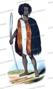Shouraki (Coraki) warrior, New Zealand, Mercier, 1833 | Photos and Images | Travel