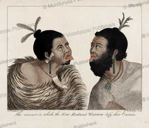Warriors with an expression of defiance, Sidney Parkinson, 1780 | Photos and Images | Travel