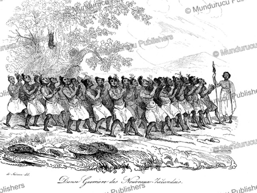 First Additional product image for - War dance by natives of New Zealand, Louis Auguste de Sainson, 1839