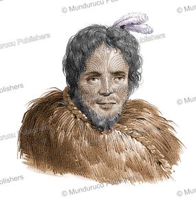 Chief Pako from Cape Reinga, Louis Auguste de Sainson, 1833 | Photos and Images | Travel