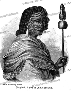 Tangieri, Chief of Maungakahia, after J.S. Polack, 1840 | Photos and Images | Travel