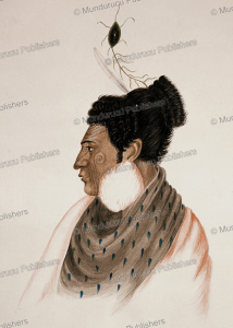 Rangihaeata, war leader and nephew of Te Rauparah, R. Hall, 1840 | Photos and Images | Travel
