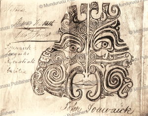 signature of a maori chief on a deed
