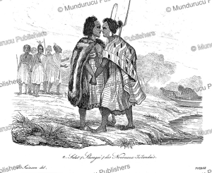 How they greet in New Zealand, Louis Auguste de Sainson, 1839 | Photos and Images | Travel