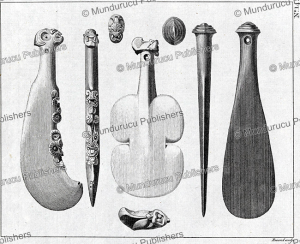 Bludgeons, used as weapons by the New Zealanders, John Record, 1773 | Photos and Images | Travel