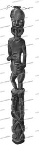 Maori idol, Louis Auguste de Sainson, 1833 | Photos and Images | Travel