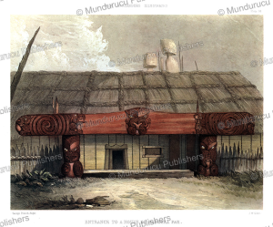 Entrance to a Maori house at Raroera Pah, George Angas, 1847 | Photos and Images | Travel