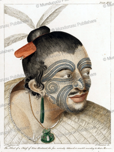 Moko of a Maori at Poverty Bay, Sidney Parkinson, 1784 | Photos and Images | Travel