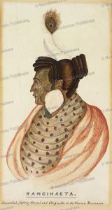 rangihaeata, war leader and nephew of te rauparah, te rangihaeata, charles heaphy, 1840