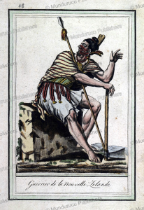 warrior of mew zealand, jacques grasset de saint-sauveur, 1795