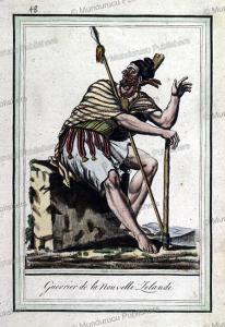 Warrior of Mew Zealand, Jacques Grasset de Saint-Sauveur, 1795 | Photos and Images | Travel