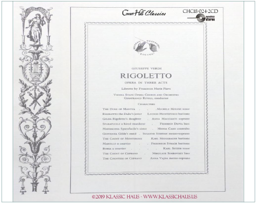 Third Additional product image for - Giuseppe Verdi (1813-1901)  Rigoletto - Opera in 3 Acts (1851)