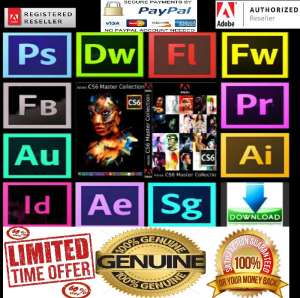 adobe cs6 master collection full genuine (windows download)