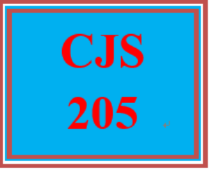 CJS 205 Entire Course | eBooks | Education