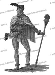 mouina, chief warrior of the tayehs, nuka hiva, marquesas islands, david porter, 1815