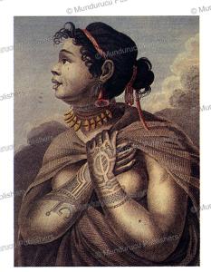 tattooed woman of nuka hiva, marquesas islands, wilhelm gottlieb tilesius von tilenau, 1813