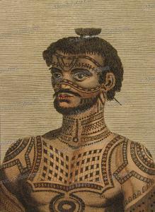 tattooed man of nuka hiva, marquesas islands, wilhelm gottlieb tilesius von tilenau, 1804