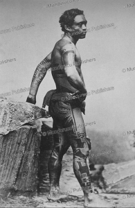 Tattooed warrior, Marquesas Islands, 1880 | Photos and Images | Travel