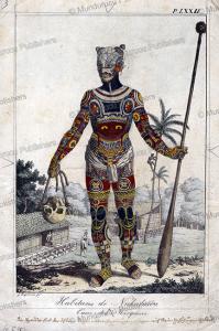 native of nuka hiva, marquesas islands, godefroy engelmann, 1825