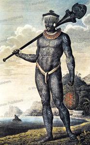 Warrior of the Marquesas Islands, Wilhelm Gottlieb Tilesius von Tilenau, 1813 | Photos and Images | Travel