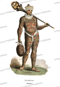 Warrior of the Marquesas, Pannemaker and Lisbet, 1845 | Photos and Images | Travel